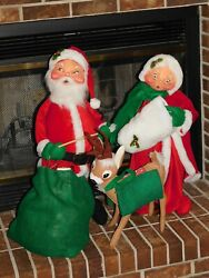 Annalee Vintage 30 Santa Claus And 28 Mrs.claus And 22 Reindeer Christmas Dolls