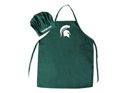 Michigan State Spartans College Apron And Chef Hat Set Bbq, Baking, Gifts + More