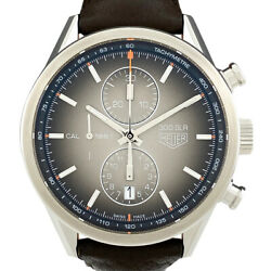 Tag Heuer Carrera 300slr Car2112-0 Watch Ss Leather Automatic Mens