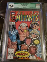 New Mutants 87 Cgc 9.8 White Pages 1st Cable Manufacturers Error... Rare 1/1