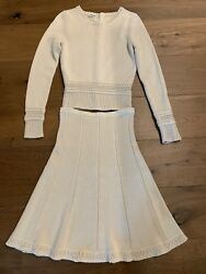 Authentic Top And Skirt Cashmere Set/dress Size 38 Mint And Rare