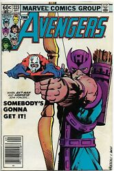1982 Marvel Comic - Avengers 223 Of Robin Hoods And Roustabouts