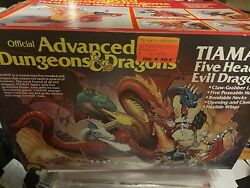 Vintage Tiamat Toy Advanced Dungeons And Dragons 5 Headed Dragon Box Wings Mint