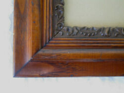 Antique Oak Picture Frame With Eagle Lake Photo