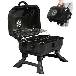 Portable Foldable Grill Bbq Smoker Charcoal Patio Wood Barbeque Oven With Cover