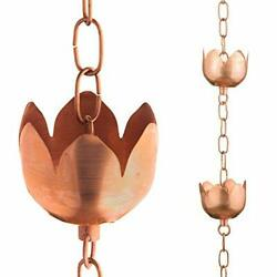 Copper Rain Chain Chimes And Cups Replace Gutter Downspout And Divert Water Away