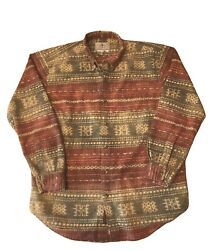 The Territory Ahead L-tall Southwest Aztec L/sleeve Shirt Western Thick Textured