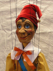 Pinocchio - Wooden Marionette, 20 Inches Tall, Handmade From Czech Republic