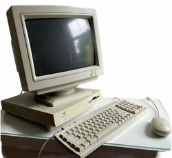 Vintage Apple Macintosh Lc475 With Monitor Keyboard Mouse - Read Description