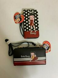 Brand New with tag 2 pack Betty Boop women#x27;s wristlet wallets $45.00