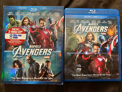 Marvels The Avengers Blu-ray/dvd 2012 3-disc Set Mcu Oop Limited Disc Included