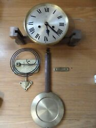 Vintage Hac Wall Clock Movement , Dial, Pendulum, Hands And Base Gong