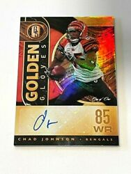 2021 Panini Gold Standard Chad Johnson Golden Gloves Auto 1/1 One Of One Bengals