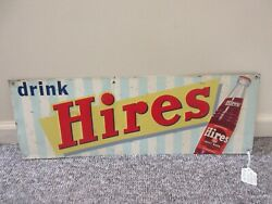 Vintage Advertising Hires Root Beer Tin Sign Store Soda Fountain M-552