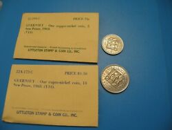 Guernsey 1968 5 10 New Pence Coin Littleton Stamp And Coin O19