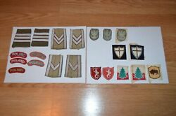 Vintage Lot World War Ii Polish Patches Military Army Collectible Some Bullion
