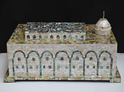 Large Al-aqsa Mosque Jerusalem Mother Of Pearl Inlays-muslim Islamic Holy Mosque