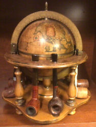 Vintage Antique Globe Pipe Holder From Italy In Great Shape With Label