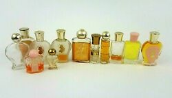 Set Of 12 White Shoulders Small And Mini Perfume And Bath Bottles Half Full Empty