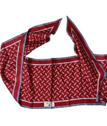 Audrey Talbott Exclusively For Amr American Airlines 100 Silk Red Scarf