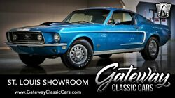 1968 Ford Mustang 2+2 Fastback Gt Gulfstream Aqua 1968 Ford Mustang 428 Cobra Jet V8 C6 Automatic Available Now