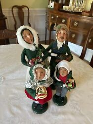 Lot Byers Choice Carolers Family- Parents And Children