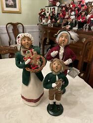 Byers Choice 1996 Gingerbread Carolers Lot Of 3