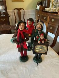Byers Choice Carolers Lot Of 3
