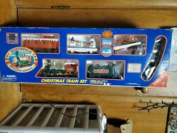 Northpole Holiday Express Musical Train Set Toystate 1999 Christmas Vtg