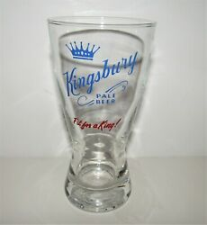 1950's Kingsbury Pale Beer Large Glass Fit For A King, Wisconsin