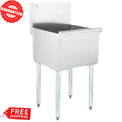 Commercial Utility Wash Sink 16-gauge Stainless Steel 1 Compartment 18x18x13