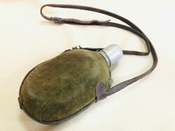 Former Japanese Army Water Bottle During The War With A Compass At That Time