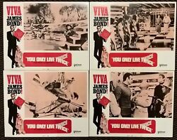 You Only Live Twice Viva Original X 7 1970 Release Usa Lobby Cards 14 X 11and039and039