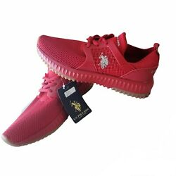 U.s. Polo Assn. Womens Red Casual Sneakers Shoes Brand New.