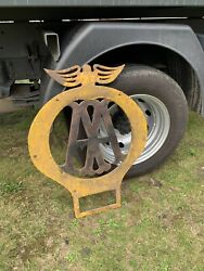 Rare Large Vintage Aa Automobile Association Sentry Phone Box Sign Old Telephone