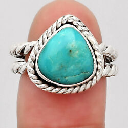 Natural Rare Turquoise Nevada Aztec Mt 925 Silver Ring S.5.5 Jewelry E384