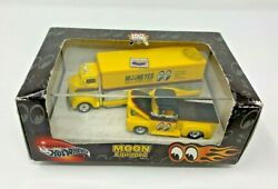 Hot Wheels 2000 Moon Equipped Mooneyes And03956 Ford And Coe Truck Set Mint Nip