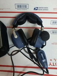Lightspeed Thirty 3g Anr Aviation Headset Ga Dual Plugs For Parts Or Repair