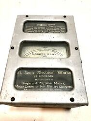 Antique 1916 Magneto Tester For Ford Model T Cars St.louis Electrical Works