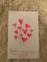 Homemade Valentine#x27;s Day Card Made from paper