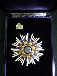 Empire Of Japan Medal Order The Sacred Treasure Badge White Military Antique