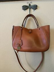Dooney and Bourke Alto Small Camilla satchel in saddle brown $280.00