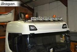 Roof Bar + Led Spots + Beacon To Fit New Gen Scania R S Series 17+ Normal Cab