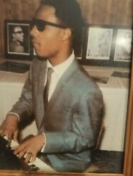 Color 8x10 Early Signed Stevie Wonder