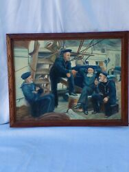 The Old Navy Spinning A Yarn Aboard Uss Mohican 1888 Oil On Canvas