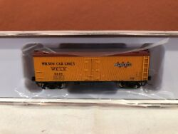 N Scale Rapido Trains 521043 Wilson Garx 37and039 Meat Reefer Single Car Rd9448 New