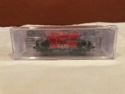 N Scale Blueford 23051 Transfer Caboose Long Roof Chicago And Eastern Rd520 New
