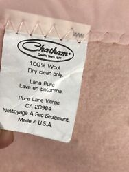 Vintage Chatham Blanket 100 Wool Light Pink With Satin Edge 80andrdquo X 96andrdquo Usa