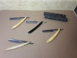 Lot Of 4 Antique Straight Razors - Wade And Butcher Clauss Oxford Razor
