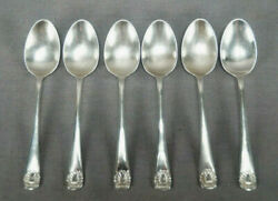 Set Of 6 Cooper Brothers And Sons Sheffield Sterling Silver Demitasse Spoons C1955